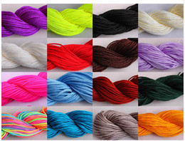 Wholesale Macrame Cord Wholesale - Cheap and High quality 12rolls DIY 1.0mm Nylon Cord Thread Chinese Knot Macrame Bracele U choice