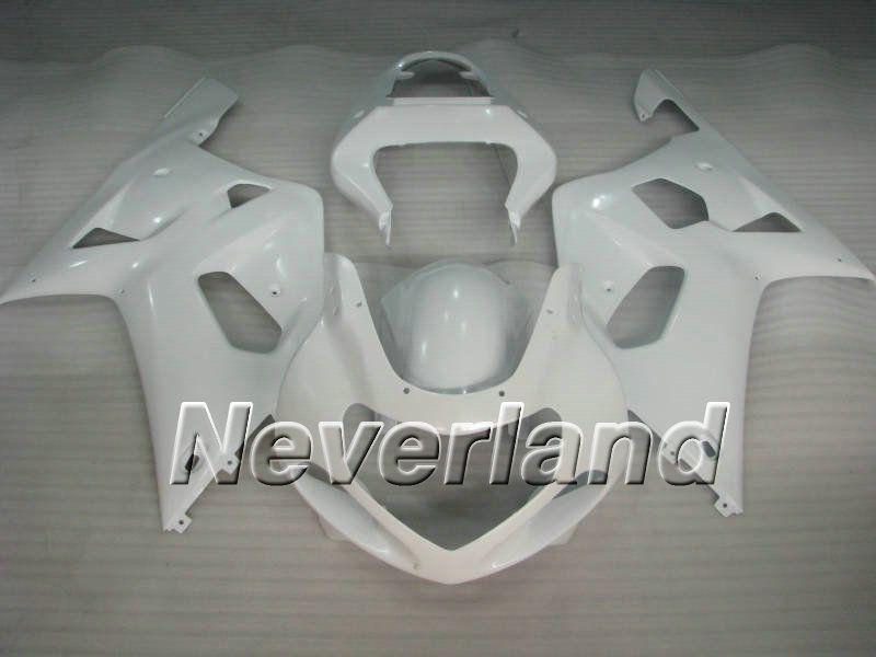 Carénage complet blanc pour SUZUKI GSXR600 750 01 02 03 GSXR600 GSXR750 K1 2001 2002 de carénages + 7 ponts