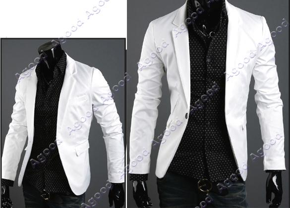 New Fashion Stylish Men's Jacket White Black Size M L Xl Agood ...