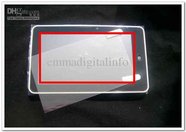 10st 9,7 tums Universal LCD Clear Screen Protector Inte helskärm för MID Tablet PC GPS skyddande filmstorlek 197x148mm