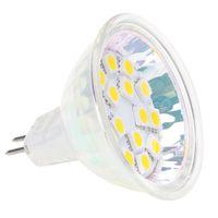 mr16 24v led ampuller toptan satış-MR16 GU5.3 LED BULB 15SMD 5050 Işık kaynağı süper parlak yüksek kalite istikrarlı 20 ADET / GRUP