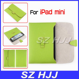 Wholesale Envelope Ipad Cover - PU Leather Envelope Case for iPad Mini Sleeve Cover Pocket Bag with Belt Clip