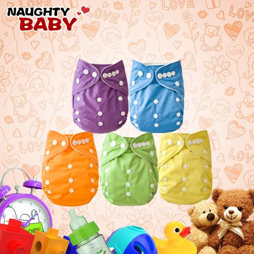 Free Shipping Naughtybaby New Arrive Double Row snaps Cloth Diapers Without Insert Set 150 pcs