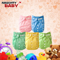Wholesale Double Row Snap Diapers - Promotion-Naughtybaby Double Row snaps One Pocket Cloth Diapers Without Insert Nappies 200 pcs Free Shipping