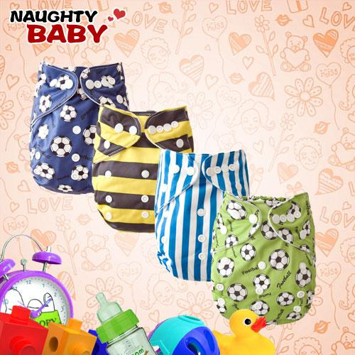 Free Shipping Wholesale - /Retail-FREE SHIPPING New baby cloth diaper New design(4 Diaper covers with 8 microfiber inserts )