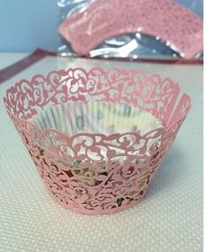 Laço do cartucho dos envoltórios do queque de Cricut Lite para o envoltório do bolo do copo da festa de casamento