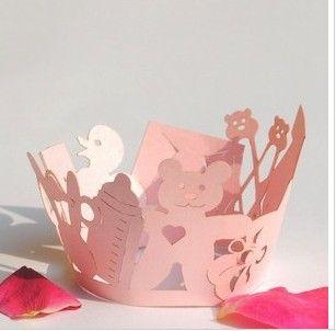 Envoltórios do envoltório do queque do copo do bolo envolvem o forro dos forros do envoltório para casamentos