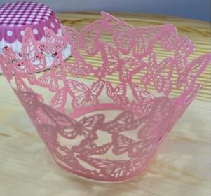 Cricut Lite Cupcake Wrappers Cartridge dentelle pour la fête de mariage coupe gâteau wrapper