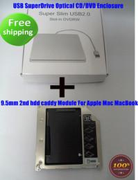 $enCountryForm.capitalKeyWord Canada - 9.5mm 2nd HDD Caddy for Macbook Pro Unibody + USB Enclosure Case for Superdrive