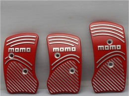 Wholesale Momo Red - MOMO pedal clutch brake pedal aluminum alloy pedal pedal car red top sale free shipping