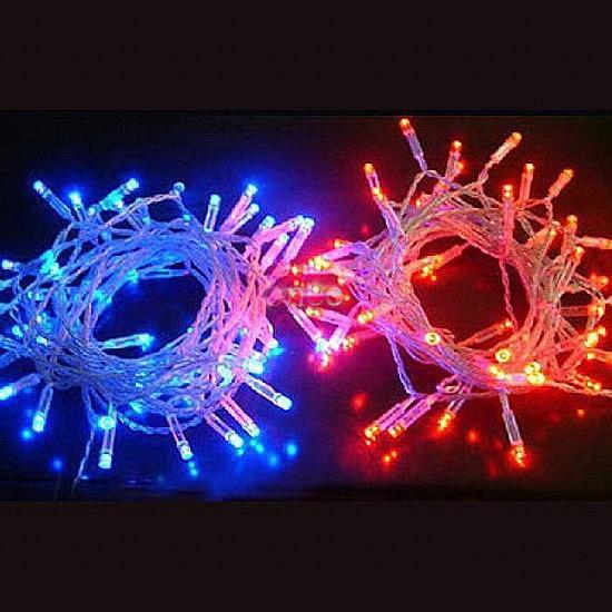 RGB LED-strängljus 10 meter Julljus Vattentät Utomhus dekoration Lighting 110V 220V RGB LED Garland Fairy Lights