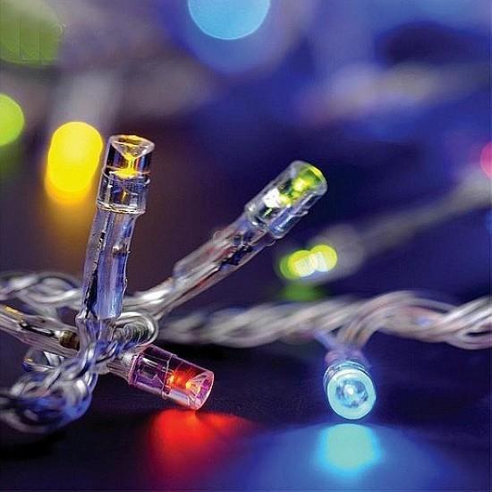 RGB LEDストリングライト10メートルクリスマスライト防水屋外装飾照明110V 220V RGB LEDガーランド妖精ライト