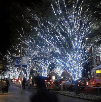 Wholesale tree connectors for sale - Group buy 500 meter Christmas Xmas RGB Warm Blue meters LEDs String lights flash window curtain holiday led light With Rear connector By DHL