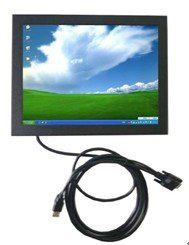 top popular 15 Inch HL-1501B Metal Cover VGA Touch Screen Monitor for Industrial PC 2019