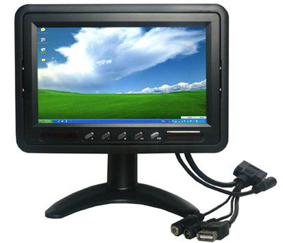 7 Inch HL-706B Headrest Monitor With Touch Screen For Desktop or Car PC , POS , mini-itx industrial pc ipc monitor