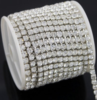 Wholesale Diamante Rhinestone Yard - MIC 10 Yards Diamante Rhinestone Cake Banding Trim Cake Decoration 4.3mm Jewelry Findings Components Hot sell