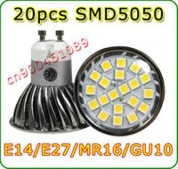 Wholesale Mr16 Smd 6w - E14 E27 MR16 GU10 LED Light bulb Plating wind type led spotlight DC12V AC85-265V 6W smd 5050 20led 700lm warm cold white Indoor lighting