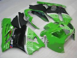 carenagem verde zx12r Desconto verde preto Kit de carenagem para KAWASAKI Ninja ZX12R 02 03 04 ZX-12R ZX 12R 2002 2003 2004 Carenagem + 7 compartimentos