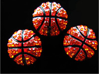 Wholesale Rhinestone Connectors For Bracelets - wholesale rhinestone basketball 8mm SLIDE charms for charm bracelet