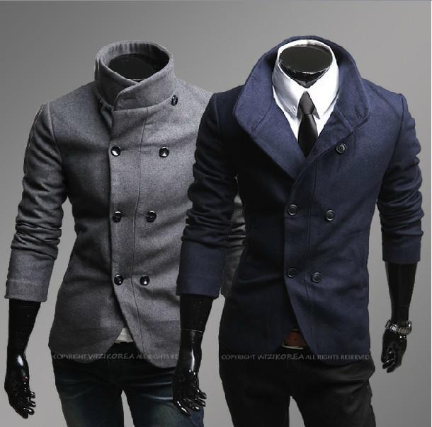 2017 2013 New Men'S Coat Overcoat Men'S Business Casual Double ...