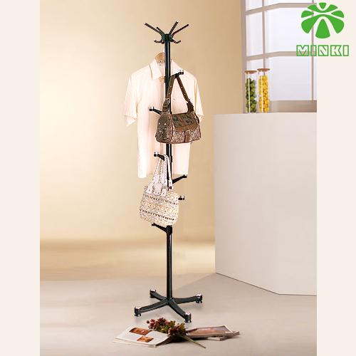 MINKI summary fashion creative floor folding hanger hanger coat rack hat  and coat stand BLACK