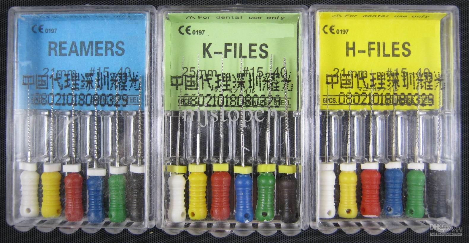 5packs Dental Hand Use K-files Stainless Steel Reamer #15 40 25mm AZDENT