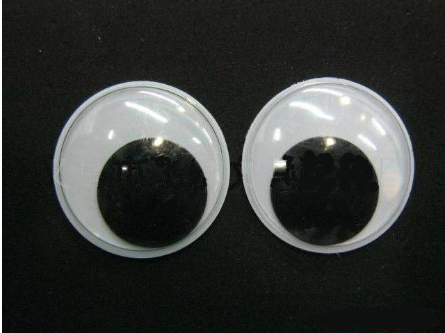 20000pcs / lot 3-6mm blackwhite 장난감 눈, 완구 눈 / 활동 눈 플라스틱 눈 / 인형 눈