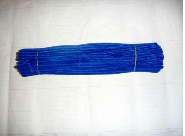 6mm*30cm royalblue diy chenille stems and pipe cleaners 500pcs/lot