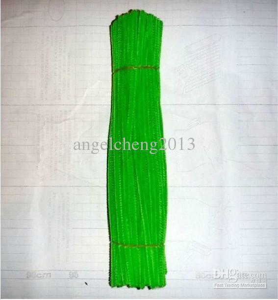 6mm * 30cm gelblich grüne diy Chenille Stiele und Pfeifenreiniger 500pcs / lot