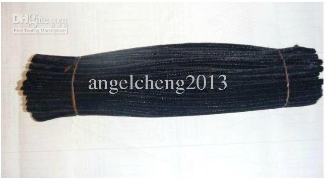 6mm*30cm black diy chenille stems and pipe cleaners