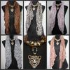 20pcs* Leopard Head Pendant scarf leopard jewelry necklaces scarf Crystal jewellery scarves Fashion Leopard Print Scarf