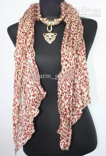 Mix 15 stks * Leopard hoofd hanger sjaal luipaard sieraden kettingen sjaal kristal sieraden sjaals