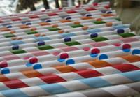 polka dots солома бесплатная доставка оптовых-1000pcs смешанные полосатые и Polka Dot бумажные соломинки, выпивая бумажные соломы для пользы партии Свободная перевозка груза