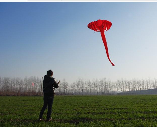 Livraison gratuite! Livraison gratuite !! 3.8 m simple ligne Stunt L'éléphant POWER Sport Kite