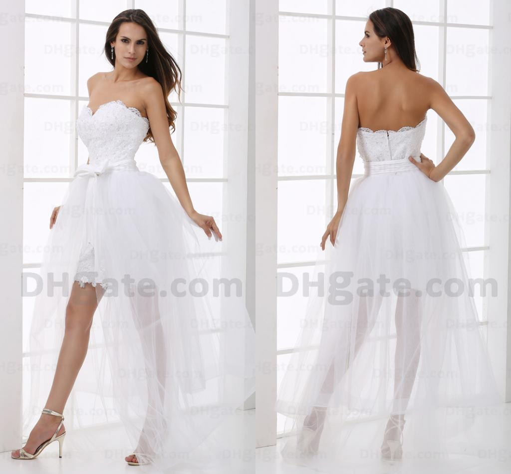 Wedding Dresses With Detachable Tail: Discount Stylish Detachable Soft Tulle Tail White
