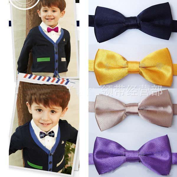 dafc6844e15e MOQ: 100pcs/lot. Children Tying Bow Ties For Boys Ties Necktie Neck Ties  Kids Silk ...