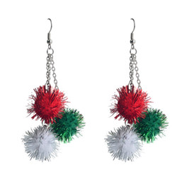 Wholesale Wholesale Nails Dangle - EUDORA New Arrival Colorful Christmas Lint Egges Earrings Nail Stud Jewelry Hot Sell 10pcs per lot