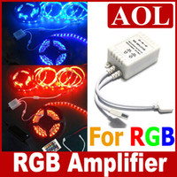 RGB Amplificatore RGB LED Strip light illimitato Piccolo amplificatore di potenza Regolatore RGB per SMD 5050 3528