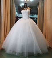 Wholesale Actual Tulle Ball - Luxurious NEW Ball Gown Sweetheart Neckline Beaded Bodice Wedding Dresses Floor-Length Wedding Gowns