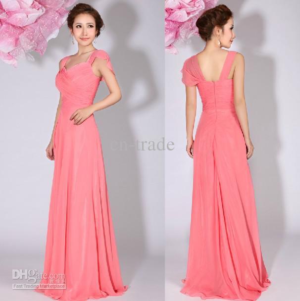Pink Chiffon Dress – fashion dresses