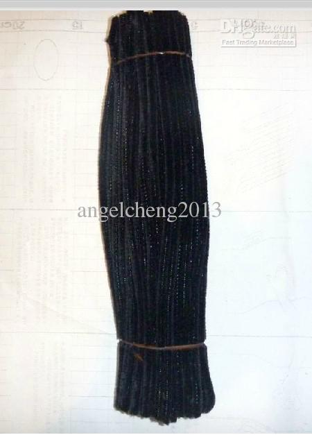 6mm * 30cmブラックDIYシェニール茎とパイプクリーナー1000ピース/ロット