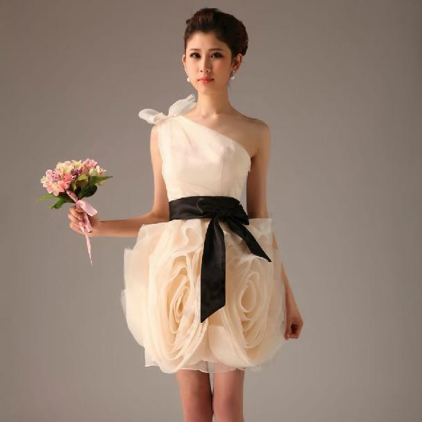 Bridesmaid Dress with Bow