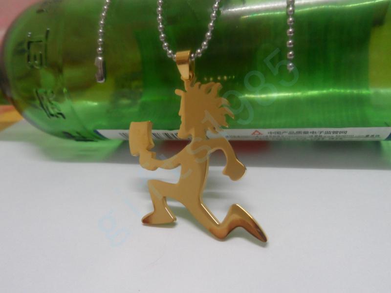 Persoonlijkheid Inkomende Hatchet Man Roestvrij staal Vacuümplating Gouden Kleur Hanger