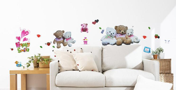 teddy bear home room decor removable wall sticker decal decoration