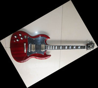 Wholesale Left Handed Sg Guitar - New Arrival 2012 SG series electric guitar with Ebony fretboard&fretside binding Left Handed re 0725