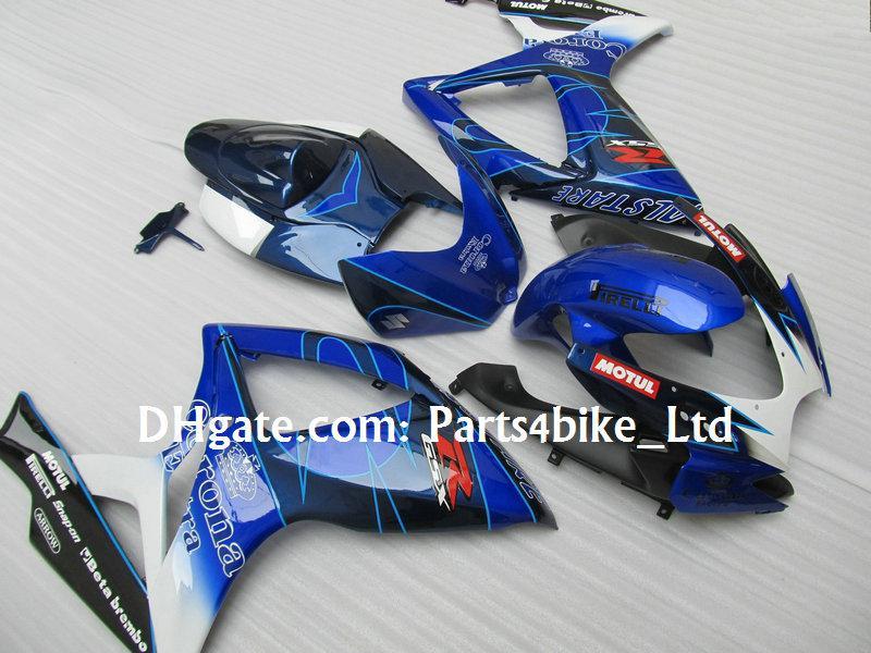 Blue Alstare Corona Fairing Kit voor 2006 2007 Suzuki GSXR 600 750 K6 GSXR600 GSXR750 06 07 GSX R600
