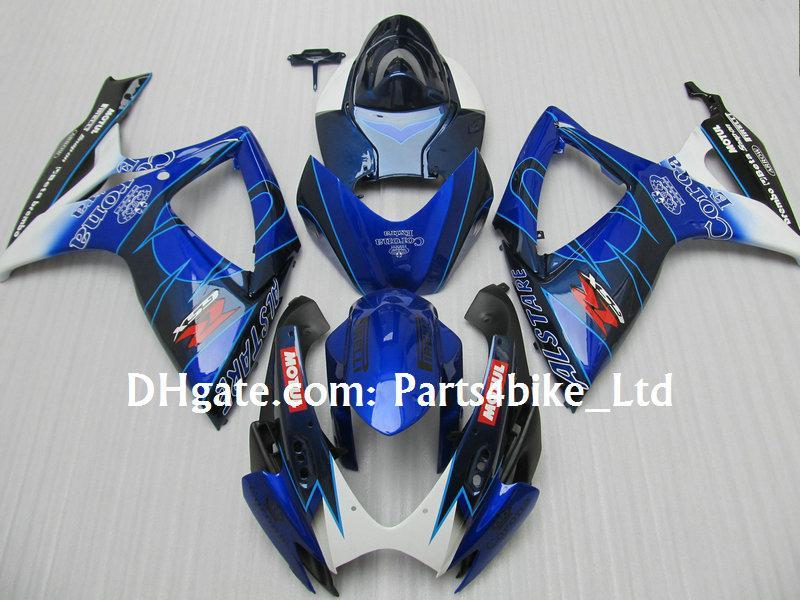 blue alstare corona fairing kit for 2006 2007 suzuki gsxr 600 750