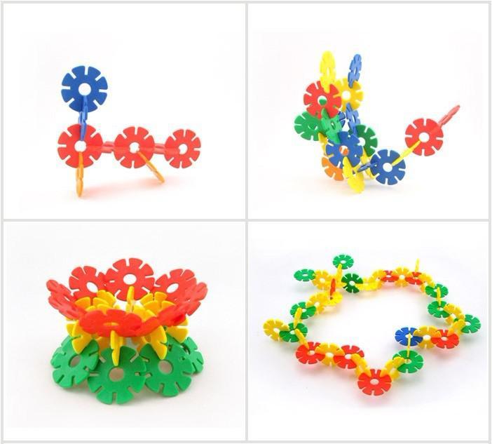 حرية الملاحة تنوير الطفل diy التعليمية بناء كتلة اللعب ، الثلج زهرة اللبنات