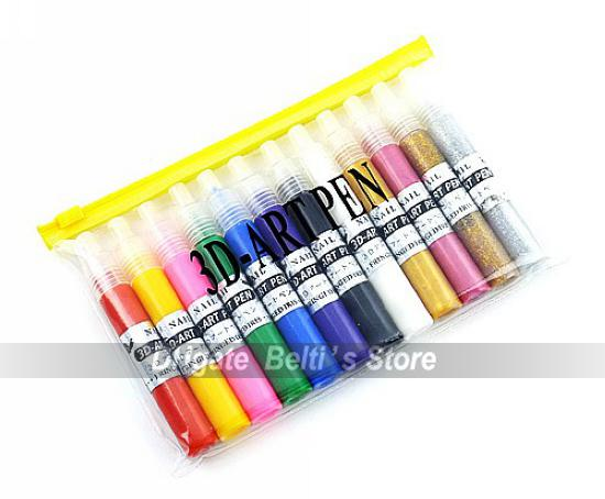 3d nail art pen uv gel acrylic design nail polish pen best nail 1 set 12 colors 3d nail art pen uv gel acrylic design nail polish pen free shipping prinsesfo Images