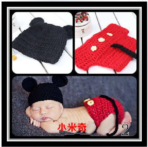 2019 New Cute Mickey Mouse Baby Hat And Shorts Handmade Crochet Photography  Props Baby Clothes Free.Sh From Worldtrade68 bb94c0203fb